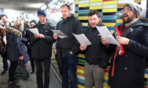 Save Our Subways stages musical protest at Elephant and Castle subway