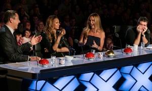 Lest ye be judged … David Walliams, Alesha Dixon, Amanda Holden, Simon Cowell.