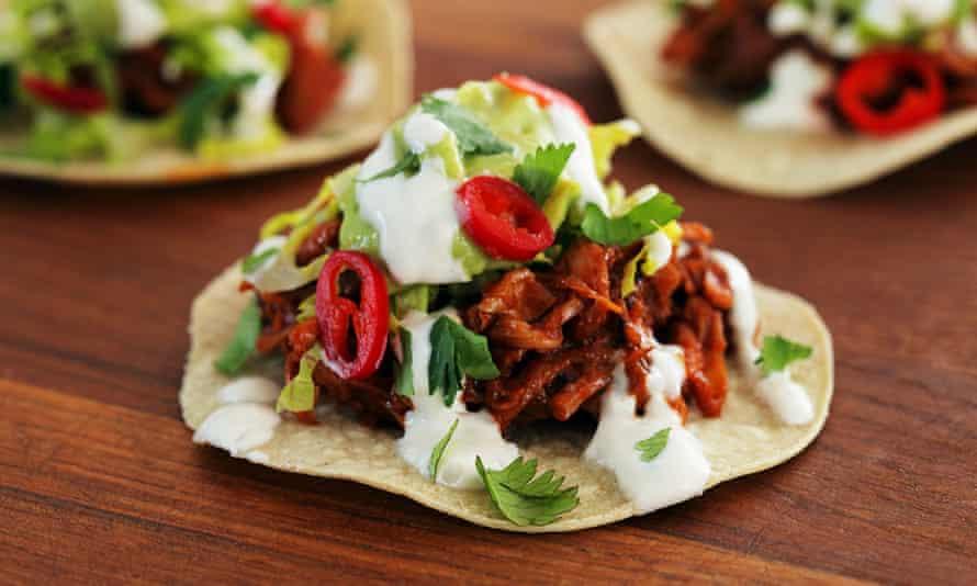 Jackfruit tacos from Club Mexicana