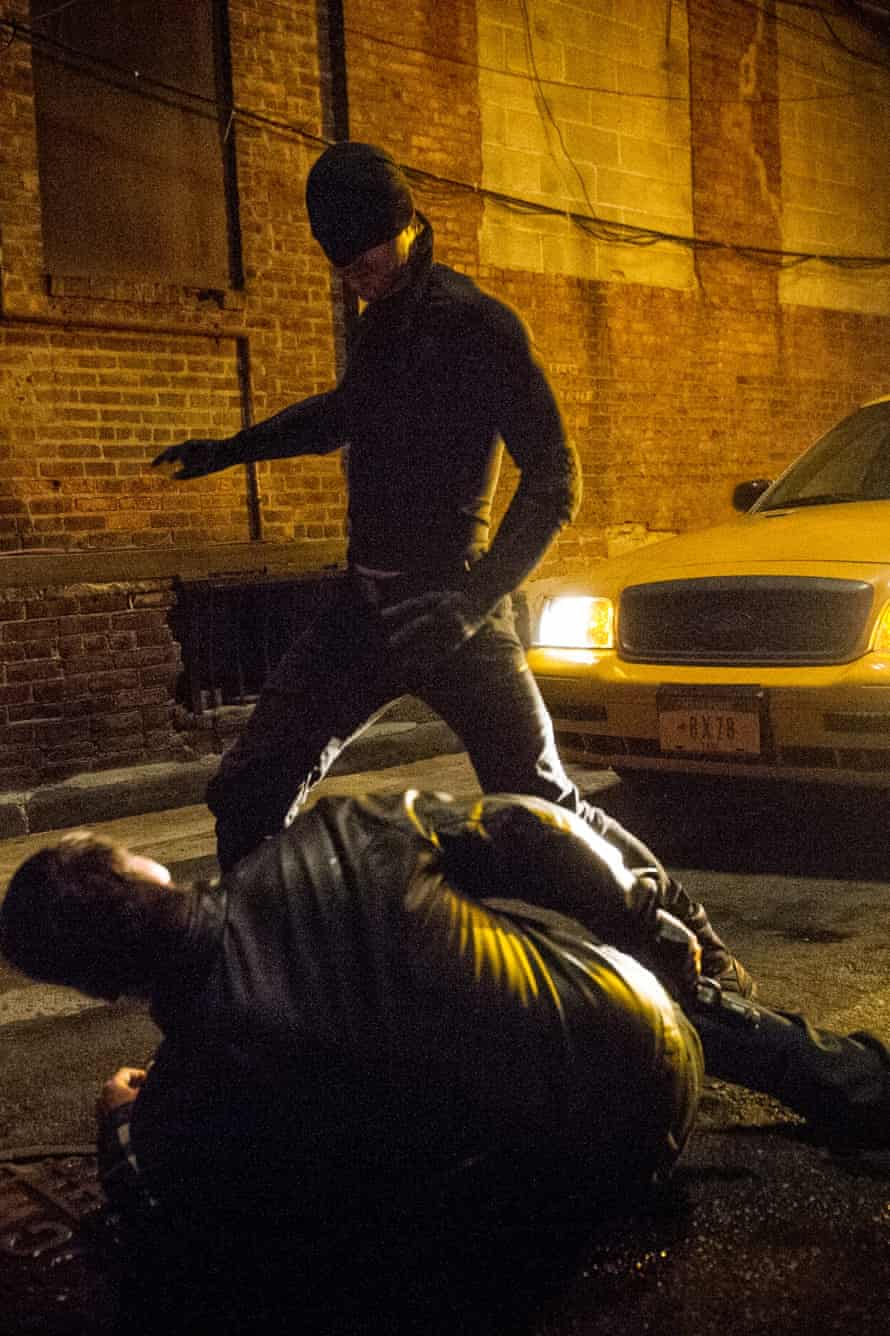 Daredevil, confronting the one person in the world who can't stream his new show