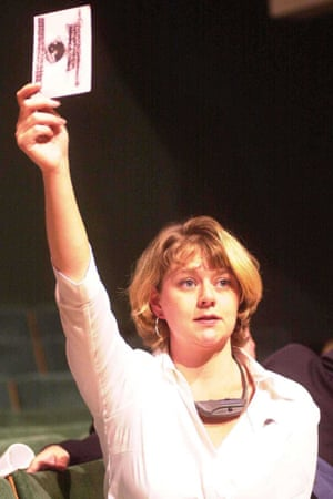 Leanne Wood at the Plaid Cymru conference in 2001.