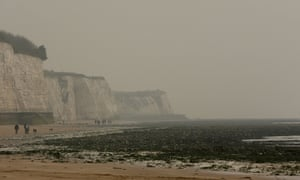 Smog smothers Ramsgate beach in the early hours of last Friday morning.