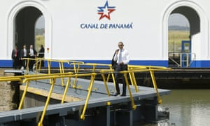 barack obama panama canal