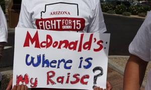 mcdonald's wages protest phoenix arizona