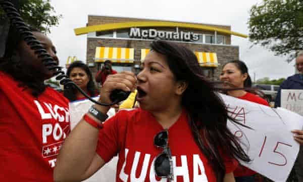 mcdonald's houston protest wages