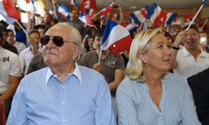 The founder of the Front National, Jean-Marie Le Pen, and his daughter Marina, the movement's current president