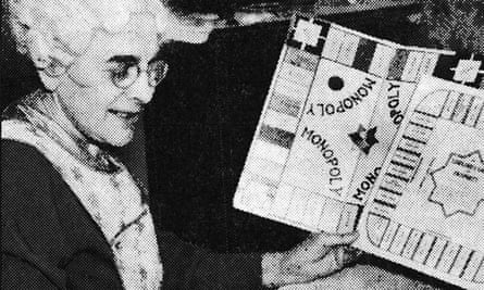 Lizzy Magie, inventor of the Landlord's Game, which we now know as Monopoly, in 1936.