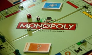 The now-familiar Monopoly board.