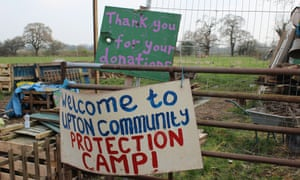 The Upton Community Protection Camp, which celebrates its first anniversary on Saturday