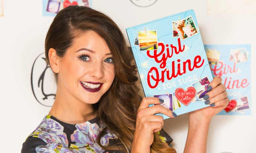 Zoe Sugg, aka Zoella, with her novel, published by Penguin