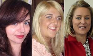 Anna Yearley, Jill Cuthbertson and Rachel Kinnock