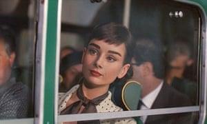 Audrey Hepburn, as seen in an advert for Galaxy chocolate.