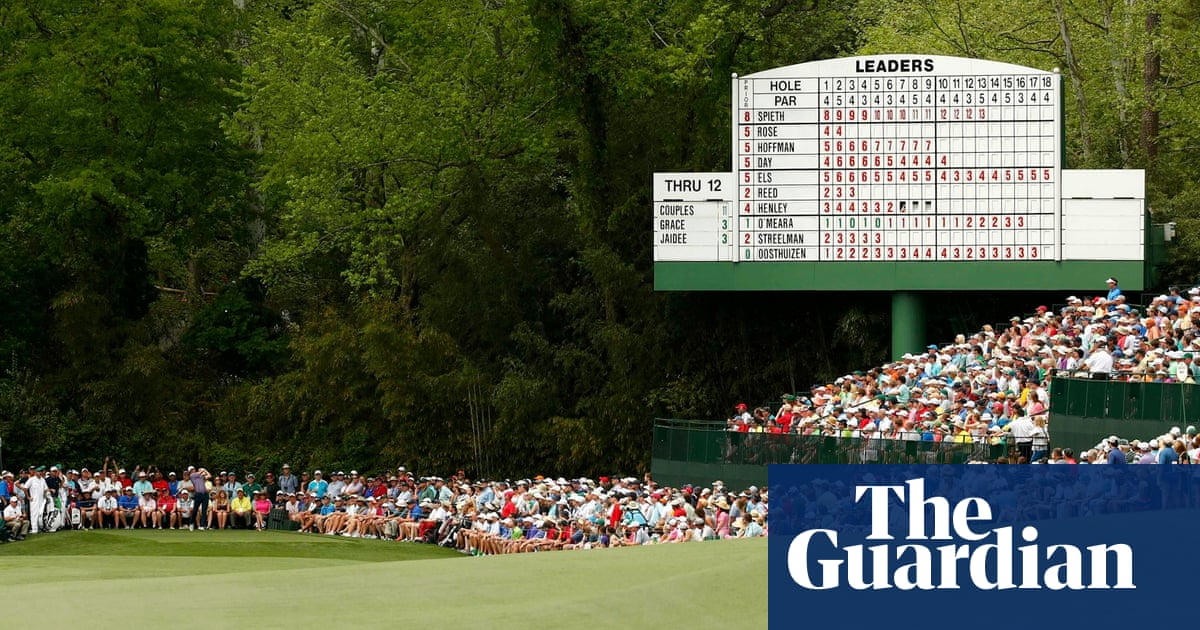 masters souvenir shop gives augusta muscle to call the money shots sport the guardian