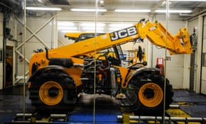 A JCB on the production line.
