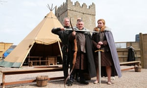 Henry McDonald, centre, with William Kells of the Game of Thrones Experience and Kerriann Kelleher.