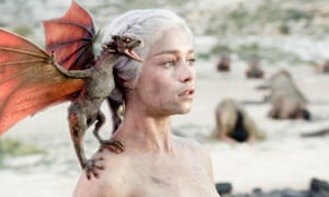 Emilia Clarke as Daenerys from Game of Thrones.