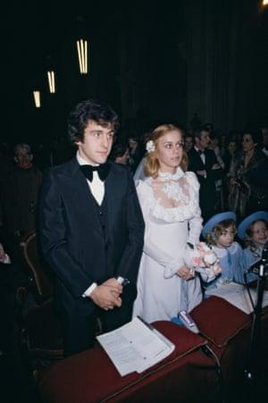 1977 Michel Platini weds Christelle Bigoni in Strasbourg, France