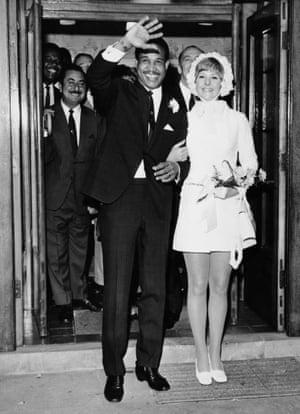 1969 West Indies cricket captain Garry Sobers with his new wife, the former Prudence Kirby from Australia, after their wedding at a Nottingham registry office