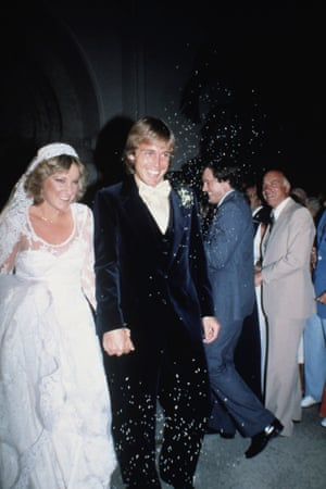 1979 Beaming newlyweds John Lloyd and Chris Evert, are showered with rice as they leave St. Anthony's Church in Fort Lauderdale, Florida