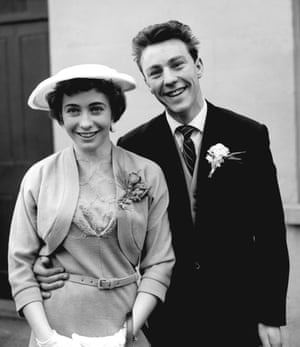 1958 Chelsea player, Jimmy Greaves, 18, with his bride Irene Barden after their wedding at Romford registry office