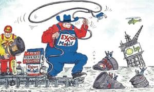 David Simonds cartoon showing oil firms preparing for mergers