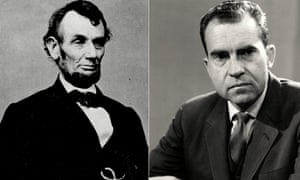 Abraham Lincoln, left and Richard Nixon