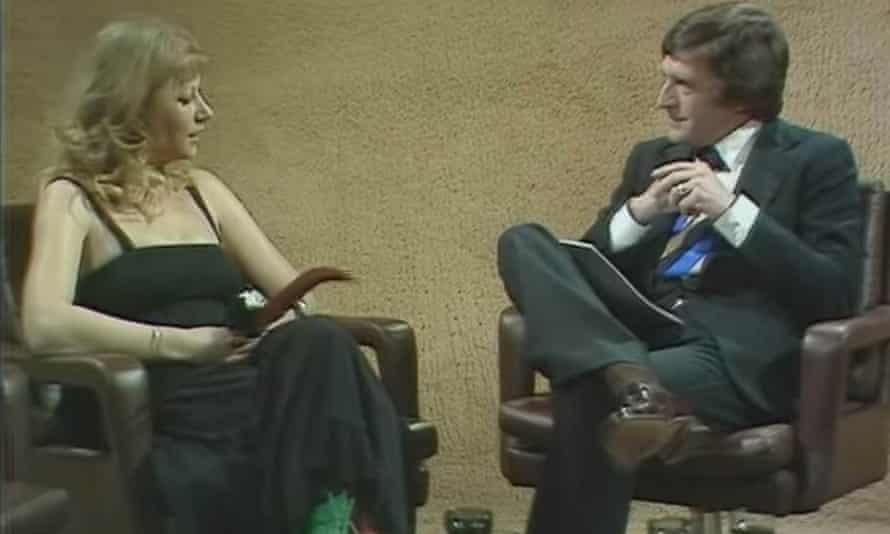 Helen Mirren being interviewed by Michael Parkinson in 1975.