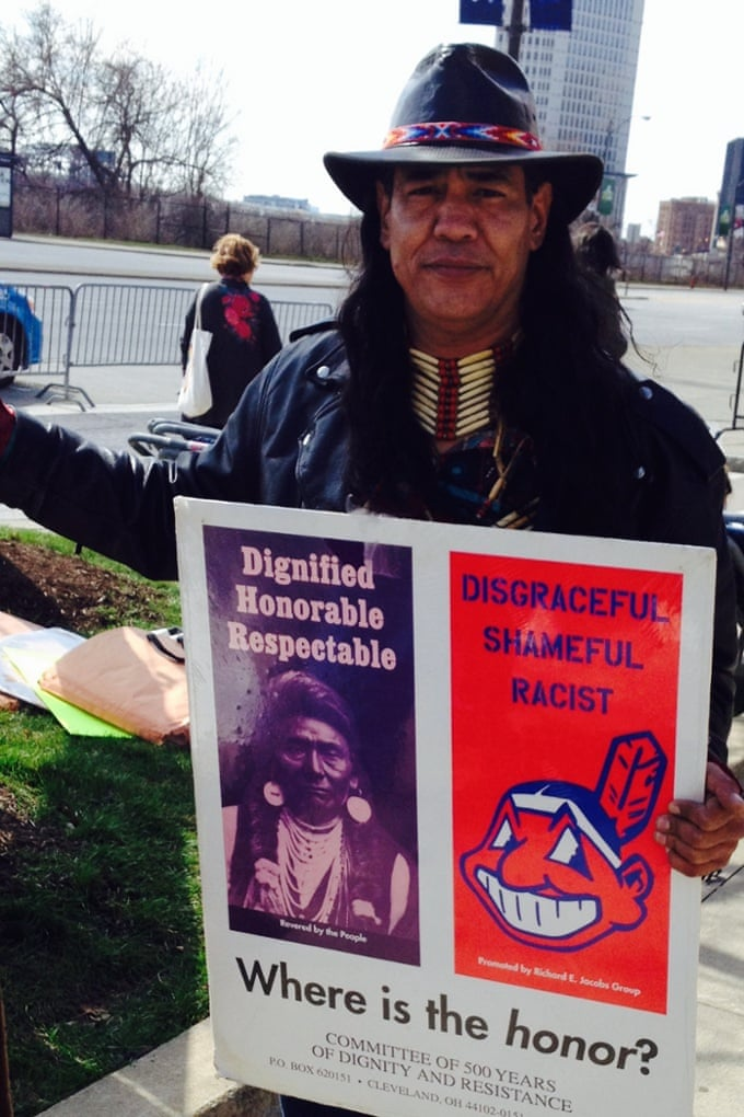 Native Americans Protest Chief Wahoo Logo At Cleveland Indians Home