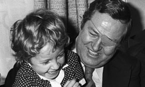 Jean-Marie Le Pen, then Front National's leader,  with his daughter Marine in May 1974.