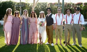 It's a real life Coachella wedding