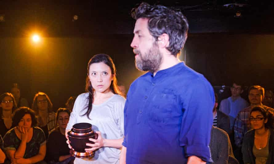 Louise Mai Newberry as Denise and Ferdy Roberts as Stephano n Lampedusa.