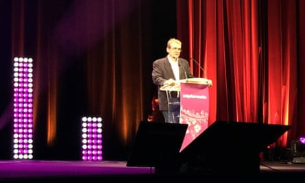 Eric Scherer at the MIPFormats conference.
