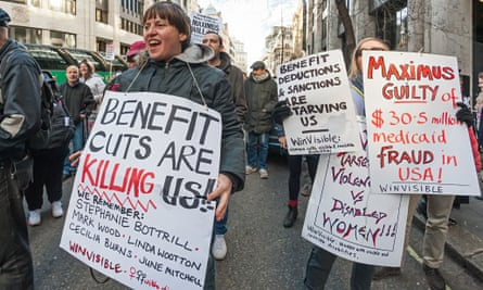 Benefits protest against Maximus