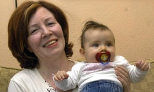 Annegret Raunigk pictured when she was 55, with her daughter Leila in Berlin.