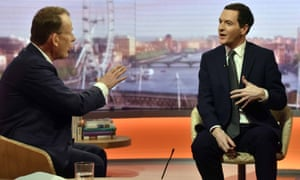 Chancellor George Osborne on The Andrew Marr Show on Sunday.