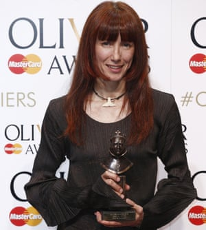 Sylvie Guillem with her special award at the Oliviers.