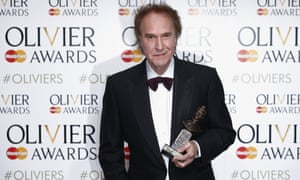 Ray Davies with the Olivier award for outstanding achievement in music.
