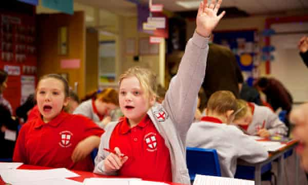 Y5 pupils at St George's C of E primary school in Chorley, Lancashire