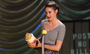 Shailene Woodley winning best female performance for The Fault in Our Stars.