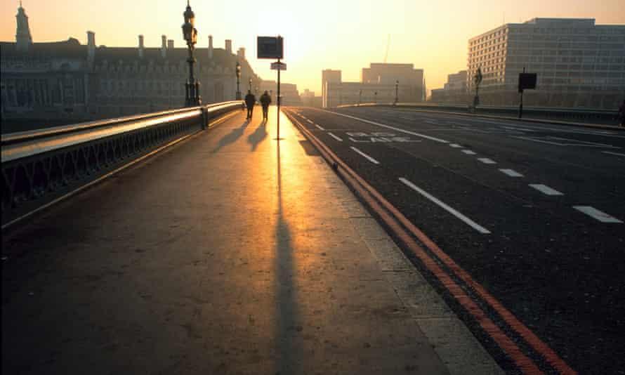 Westminster Bridge at sunrise.