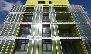 Algae powered building