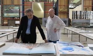 Orhan Pamuk with Anselm Kiefer.