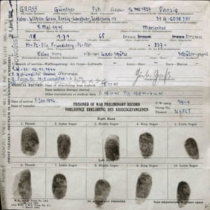 Gunter Grass' prisoner of war file