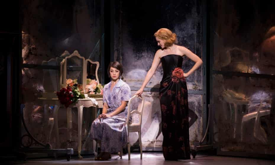 Leanne Cope as Lise and Jill Paice as Milo in An American in Paris.