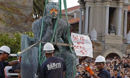 Cecil John Rhodes statue is removed from the University of Cape Town