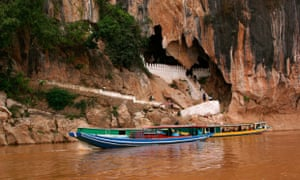 Laos Luang Prabang district, Mekong river