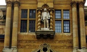 The Cecil Rhodes memorial at Oriel College in Oxford.