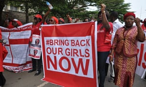 Protestors in Abuja call for the rescue of the girls abducted by Boko Haram