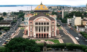 The renovated Amazon Theatre in Manaus.