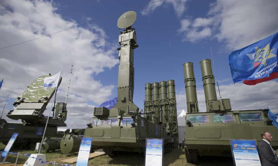 A Russian-made S-300 air defence missile system on display in Zhukovsky, outside Moscow.